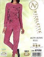 Пижама    женская  велюровая     Nicoletta 87050, фото 1