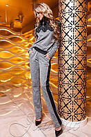Женский серый костюм Моренти Jadone Fashion 42-48 размеры
