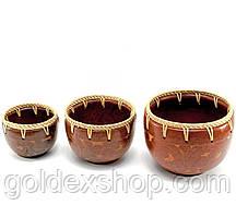 Чаши терракотовые набор 3 шт (d-16 h-12,5 см d-13,5 h-10,5 см d-11 h- 8,5см)