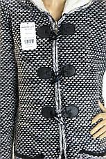 Вязаний жіночий  кардиган-пальто з капюшоном , фото 2