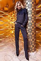 Женский темно-синий костюм Моренти Jadone Fashion 42-48 размеры