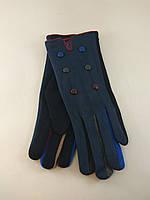 Перчатки женские хлопок на плюше с пуговицами разные цвета