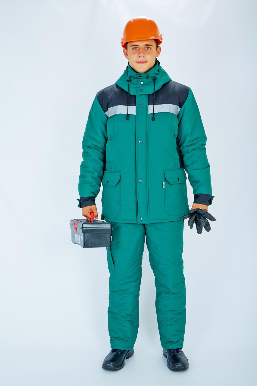 Куртка утепл.Портовик зелёно/черная