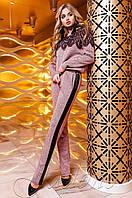 Женский розовый костюм Моренти Jadone Fashion 42-48 размеры