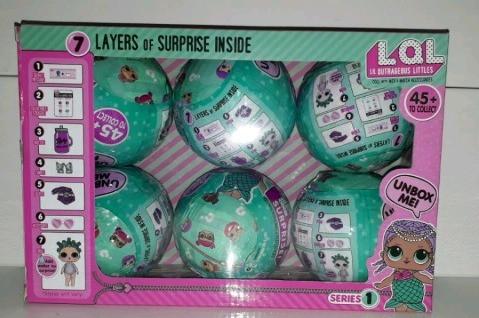 Игрушка сюрприз кукла LOL surprise doll с аксессуарами 6 штук набор