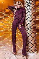 Женский бордовый костюм Моренти Jadone Fashion 42-48 размеры