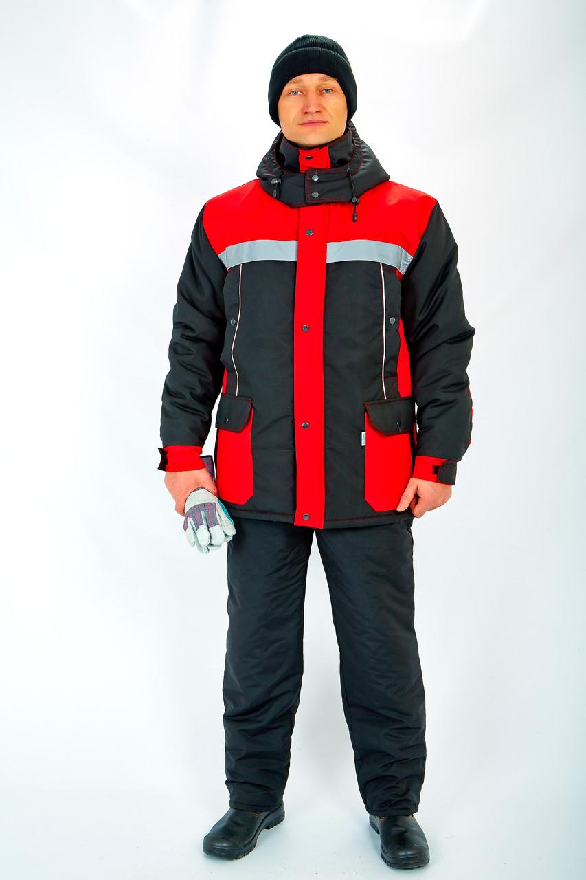 Куртка утепл.Портовик красно/черная