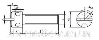 Винт пломбировочный DIN 404 нержавеющий А2, фото 2