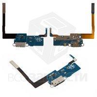 Шлейф для мобильных телефонов Samsung N900 Note 3, коннектора зарядки, с микрофоном, с компонентами, rev 0.7B