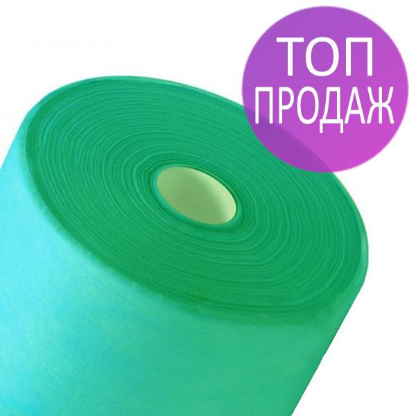 Одноразовые простыни в рулонах 0,6х100 метров 20 мкм/м2, медицинские, для индустрии красоты м'ятные