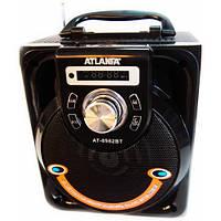 Колонка AT-8982 с USB+SD+Blueеtooth+FM+дисплей+адаптер от сети