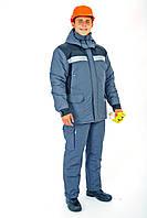 Куртка утепл.Портовик серо-синия