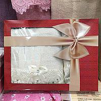 Набор полотенец в подарочной коробке 2+1