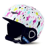 Горнолыжный шлем Feiyu. Белый с звездами