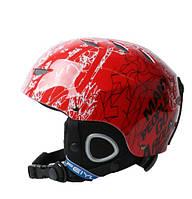 Горнолыжный шлем Feiyu. Красный