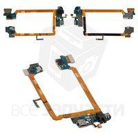 Шлейф для мобильных телефонов LG G2 D801, коннектора наушников, коннектора зарядки, микрофона, с компонентами