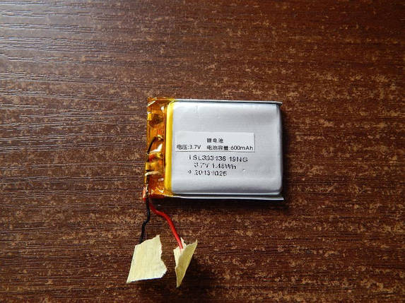 Аккумулятор, батарея 600 mAh, 3,7 V 37*26, фото 2
