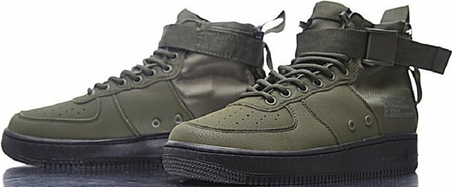 1e59076d Купить кроссовки найк Nike SF Air Force 1 Utility Mid Grey/White на ...
