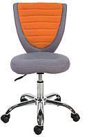 Детское компьютерное кресло POPPY, серо - оранжевое