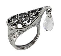 """Кольцо """"Зафира"""" покрытое серебром (r23230k0)"""