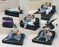 Надувной диван-кровать трансформер с электронасосом