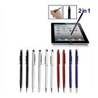 Ручка стилус 2 в 1 для телефонов и планшетов с емкостными экранами.L-10 см