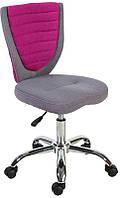 Детское компьютерное кресло Poppy, серо - розовое