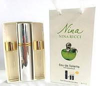 Подарочный парфюмерный набор с феромонами женский Nina Ricci Nina 3х15 мл