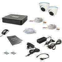 Комплект проводного видеонаблюдения Tecsar 2OUT-DOME LUX