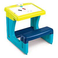 Парта-доска Школьник, голубая, Smoby (420101)