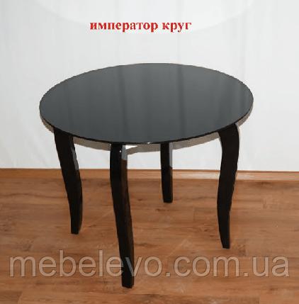 1ad5e59e6 Купить Стол дерево + стекло Император Круг 750х900х900мм Sentenzo в ...