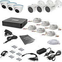 Комплект проводного видеонаблюдения Tecsar 6OUT-MIX LUX