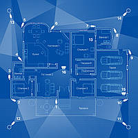 Система IP 1.3Mp (960P) видеонаблюдения на 16 камер «под ключ» для частного дома