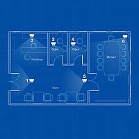 Система IP 2Mp(1080P) видеонаблюдения на 6 камер «под ключ» для офиса