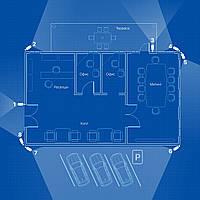 Система IP (4Mp) видеонаблюдения на 8 камер «под ключ» для офиса