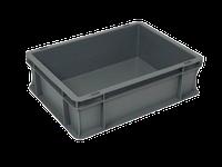 Пищевой пластиковый ящик 400х300х120