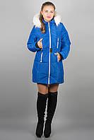Зимняя куртка Дорри (электрик белый мех)
