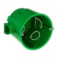 Монтажная коробка (подрозетник глубокий) вмонтированная круглая IP30 60x60 для сплошных стен IMT35101