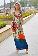 Женский летний сарафан макси с декольте, фото 1