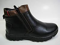 Подростковые кожаные сапоги на цигейке ТМ Kangfu