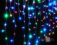 Різнобарвна гірлянда Дощ 600 LED 2х2 метри, 1001156, LED гірлянда Дощ на 600 лампочок 2х2.м різнобарвна 1001156 світлодіодний завісу, гірлянда плей