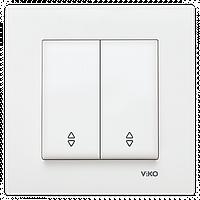Выключатель проходной 2-х клавишный VIKO Karre Белый 90960017