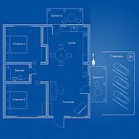 Система AHD видеонаблюдения на 1 PTZ-камеру 2Мп «под ключ» для квартиры