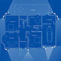 IP видеонаблюдение 8 камер (4 Мп) для частного дома