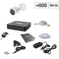 Комплект проводного видеонаблюдения Tecsar 1OUT + HDD 500ГБ