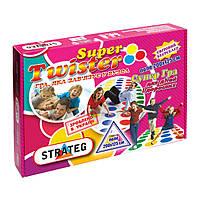 Ігровий набір Strateg Гра Твістер Super 2 в 1 (укр)(11386)