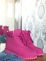 Зимние женские ботинки Timberland Puprle с мехом