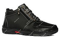 Зимові черевики чоловічі на блискавку і шнурівку (ПЗ-79чпм)