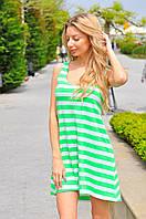 Женское летнее платье мини в полоску, фото 1
