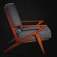 Натуральное деревянное мягкое кресло